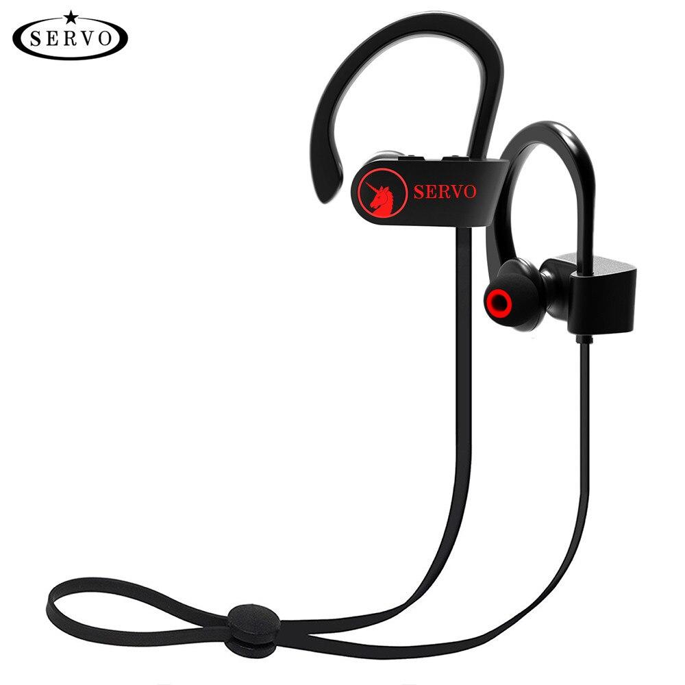 SERVO unicornio IPX7 impermeable Sport inalámbrico Bluetooth auricular con micrófono apoyo ruso para teléfono PC