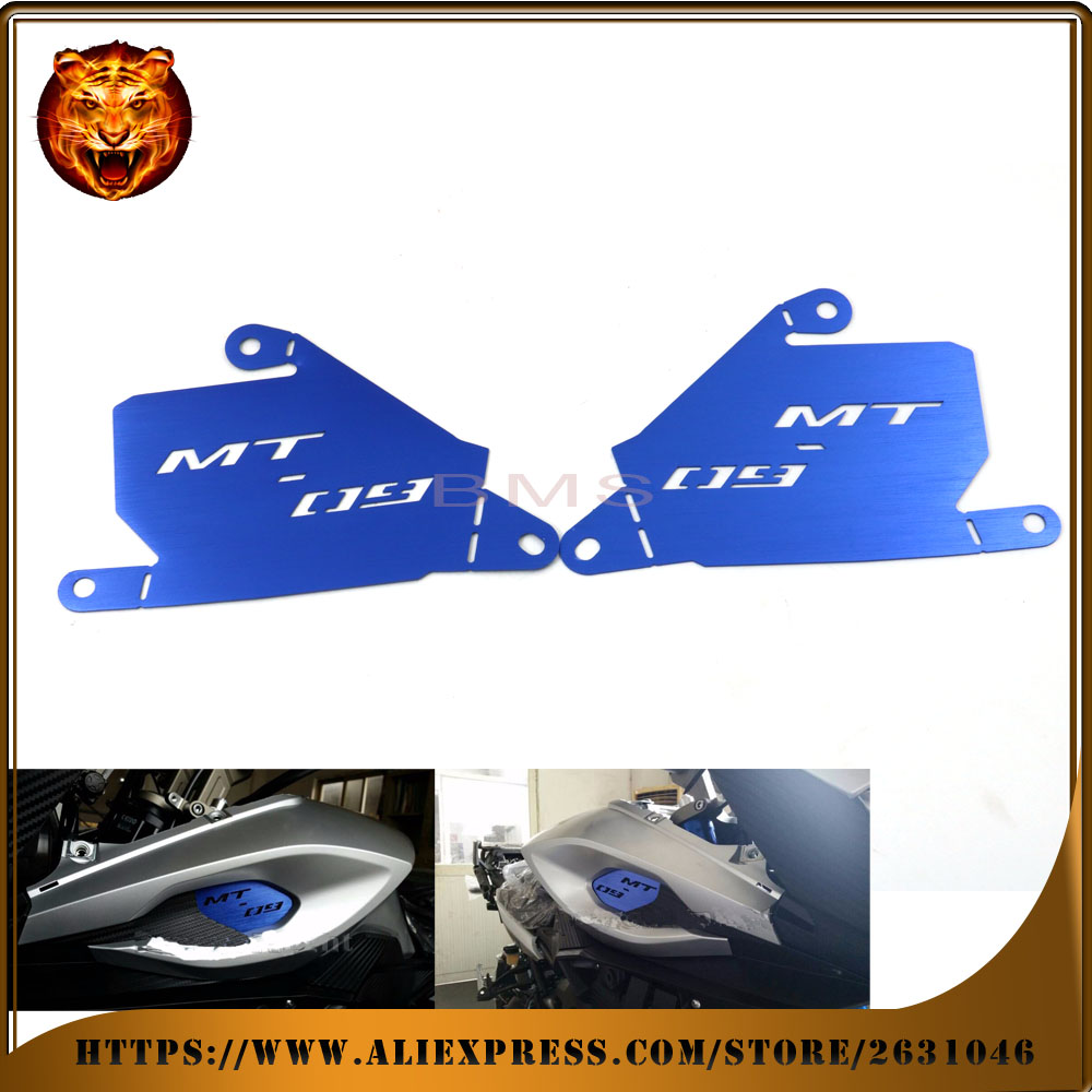 ФОТО  Motorcycle Accessories Air Inlet Cover Plates CNC Aluminum For YAMAHA MT-09 Tracer 2015 free shipping red blue new style logo