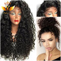 Long Curly Synthetic Wigs Lace Front Wig With Baby Hair Heat Resistant Fiber Curly Synthetic Wigs For Black Women Free Shipping