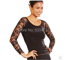 Latin dance costume senior sexy lace long sleeves  latin dance top for women latin dance costume top 5 kinds of colors