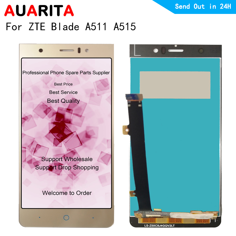 AAA quality 1pcs LCD For ZTE Blade A511 A515 LCD Display Touch panel Screen Digitizer Assembly Replacement For ZTE A 511 A 515 image
