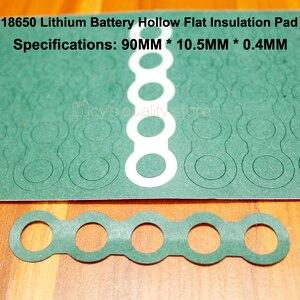 Image 4 - 100 ชิ้น/ล็อต 18650 แบตเตอรี่อุปกรณ์เสริม Solid ฉนวนกันความร้อนแผ่น 2/3 หมึกถังสีเขียวเปลือกกระดาษ Diy