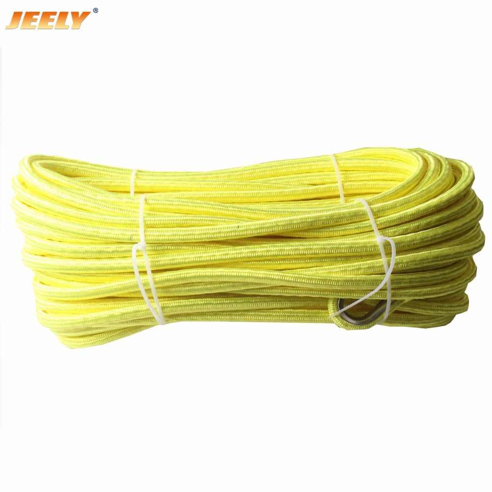 Jeely 10mm * 30m uhmwpe núcleo com revestimento de poliéster corda sintética do guincho duplo trançado