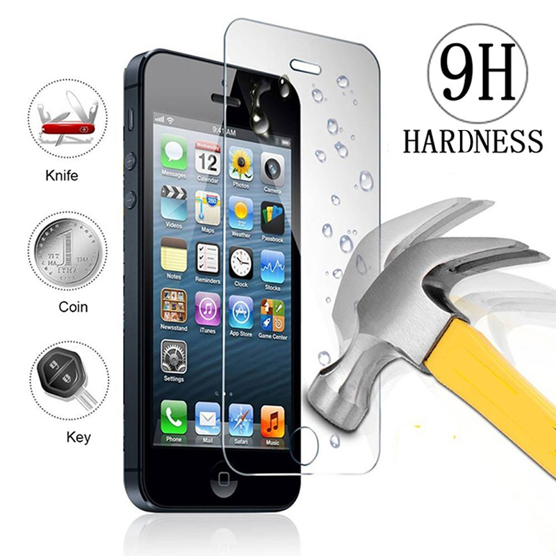 H D Front Tempered Glass for iPhone S C SE Ecran Protection