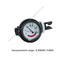 PVC pressure gauge air thermometer for inflatable boat test air pressure valve connector SUP stand up paddle board surfing