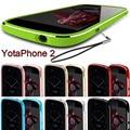 Yota telefone 2 case yotaphone 2 armação de metal de alta qualidade alumínio bumper shell protetora para yota yotaphone 2 case + colhedor