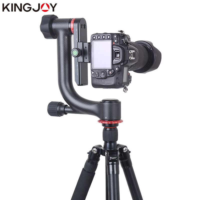 KINGJOY Official KH-6900/6900C Tripod Ball Head Professional Gimbal Tripod Head For DSLR Camera And 360 Degree Panoramic Fluid professional 75 100 mm fluid ball head adapter applied to tripod