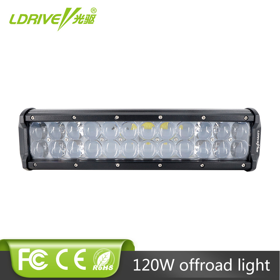 LDRIVE 12 120W LED Light Bar For Offroad Driving Truck Boat Wagon Pickup 4X4 4WD Spot Flood Combo DRL Headlight Fog