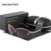 HDCRAFTER New Women Sunglasses Brand Designer Fashion Glasses Ladies Sun Glasses High Quality Selection Eyewear