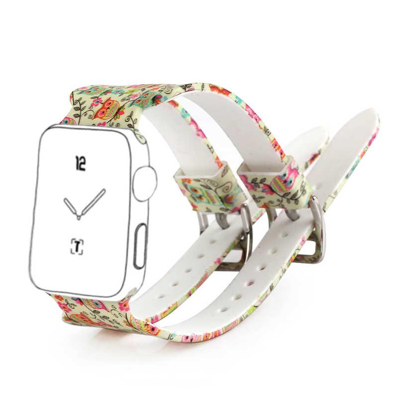 Bemorcabo para Apple Watch Band silicona suave estilo deportivo hombres mujeres correa de muñeca reemplazo para iWatch Serie 3/2 /1 38mm 42mm