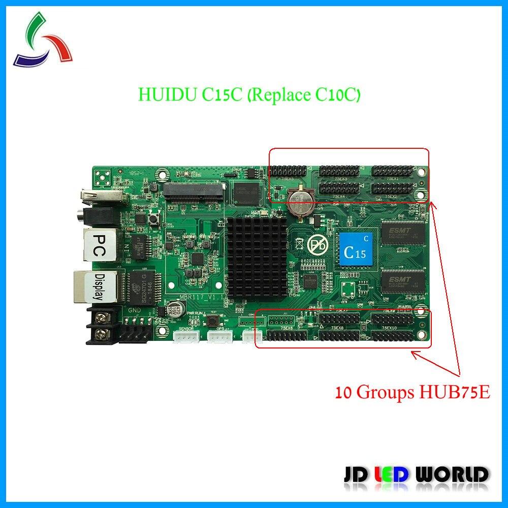 C15C C15C WIFI replace HUIDU C10C RGB video led screen controller card 10 groups HUB75E supports