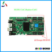 C15C/C15C WIFI (להחליף HUIDU C10C)RGB וידאו led מסך בקר כרטיס 10 קבוצות HUB75E תומך P2 P2.5 P3 P4 P5 P6 P8 P10