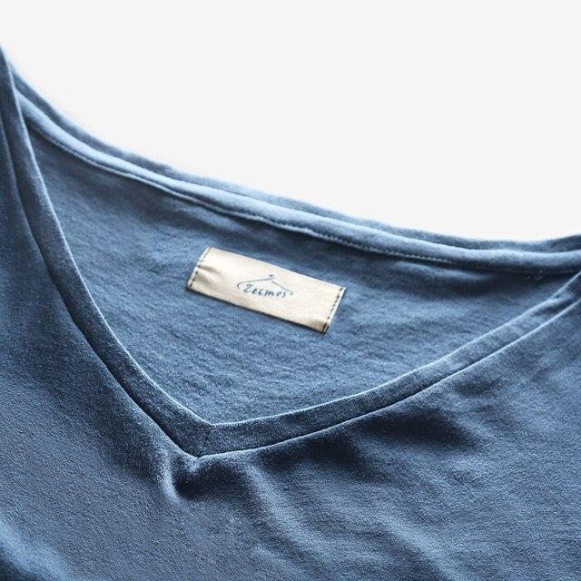 Zecmos 2017 Slim Fit V-Neck T-Shirt Men Basic Plain T Shirt Male Clothes Solid Cotton Top Tees Short Sleeve Fashion