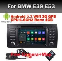 El Precio de fábrica Android 5.1 Estéreo Del Coche para BMW E39 X5 Android E53 WifI 3G bluetooth Radio USB SD volante Contrl Envío cámara