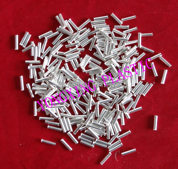 1000pcs/lot EN0206 naked Insulated tube terminal block Cord end terminal wire ferrules