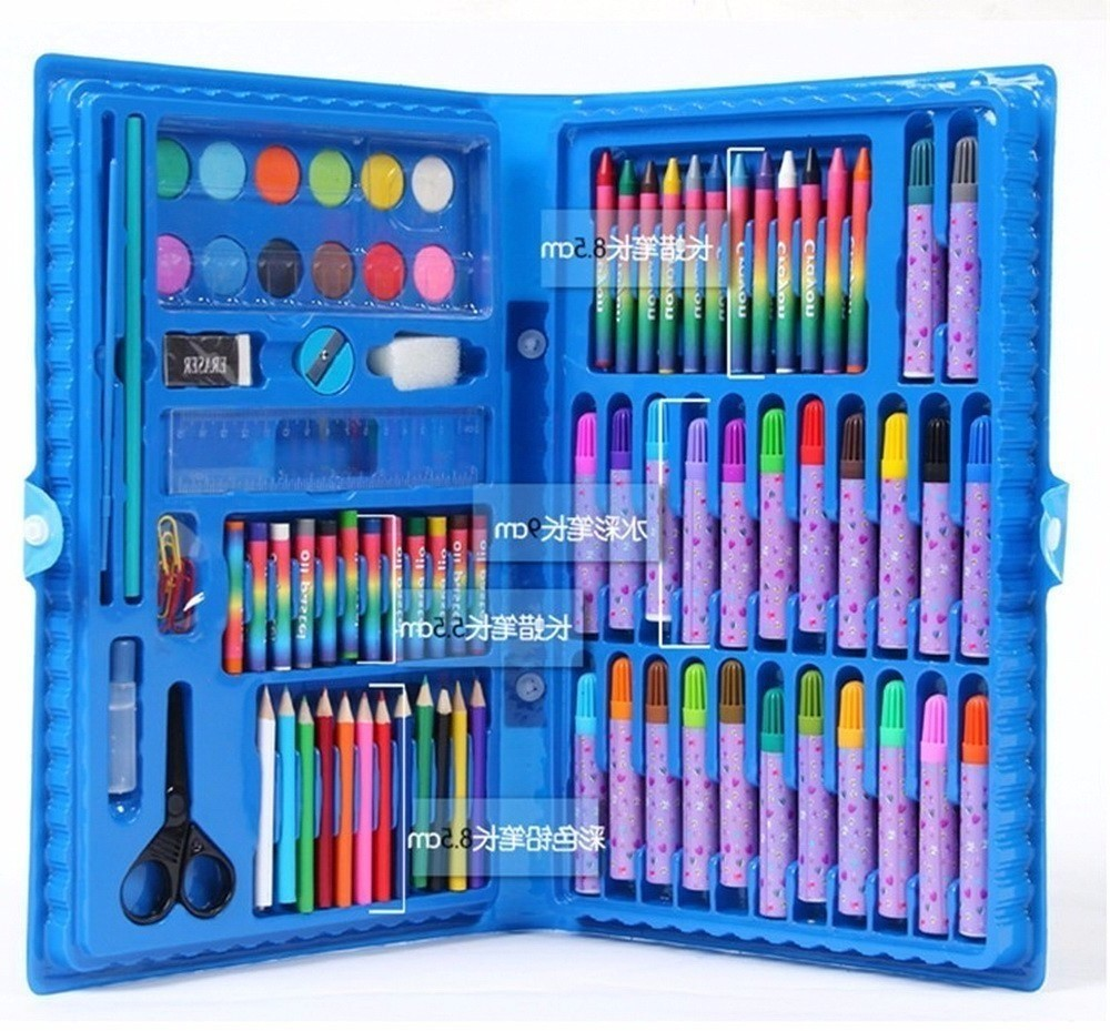 deli child puzzle stationery gift set toy paint brush crayon watercolor pen primary school students gift supplies New shop Deli Child puzzle stationery set toy paint brush crayon watercolor pen school students gift supplies drawing pencil kit