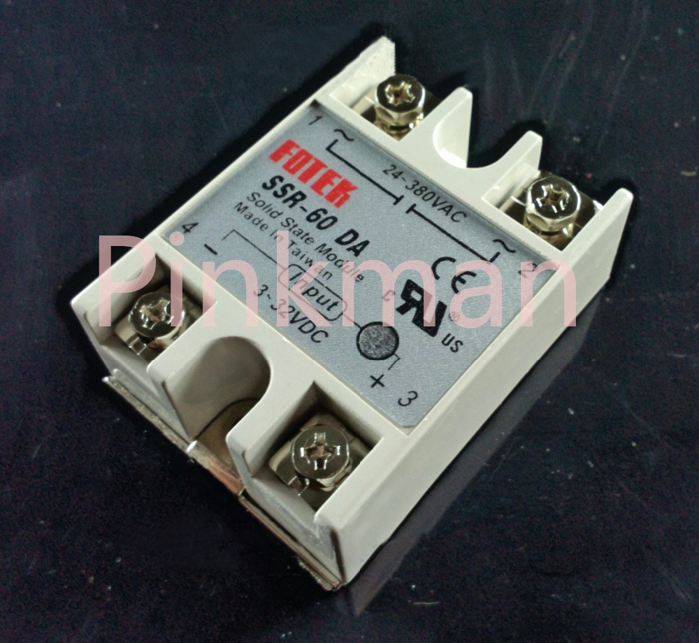 1 pc FOTEK 60DA Solid State Relay SSR Single Phase DC-AC hoymk ssr 60da 60a single phase dc solid state relay control communication relay solid state resistance regulator