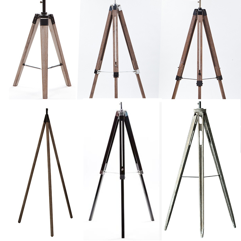 Wholesale wooden floor chandelier vintage style tripod for Cheap tripod lamp