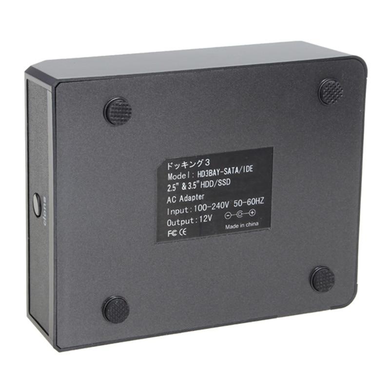 2.5/3.5 Hard Drive HDD SSD USB3.0 3 Bay SATA IDE HDD Docking Station IDE+SATA Offline Copy
