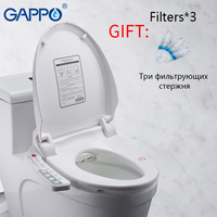 GAPPO Intelligent Toilet Seats Elongated Bidets Lid Cover Heated Sit Smart Bidet Toilet Seats Clean Dry Toilet Cover