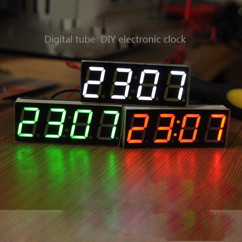 Зеленый + белый + красный/шт один чип часы модуль LED электронные часы цифровые часы трубки с температурой и дата