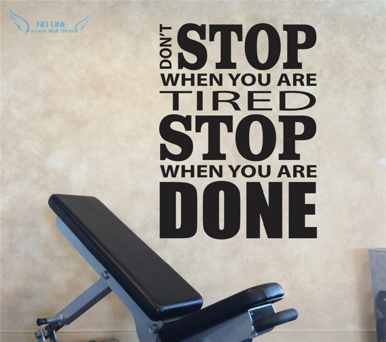 Vinyl Wall Decals Motivation, Don't Stop When You Are Tired Stop When - Home Decor - Photo 1