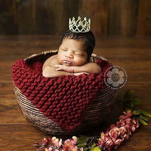 Kūdikių naujagimiai fotografuojami karūnos princesės merginos - Mados papuošalai - Nuotrauka 4