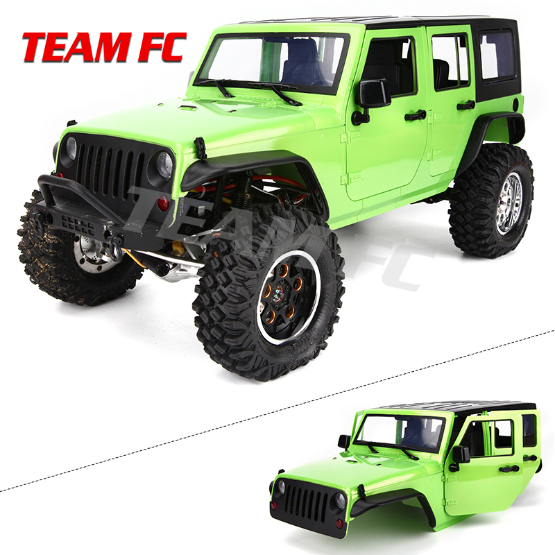 KIT Available 313mm 12.3inch Wheelbase Body Car Shell Cage For 1/10 RC Crawler Car SCX10 SCX10 II TRX4 90046 90047 Jeep Wrangler