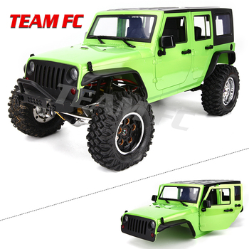 KIT Available 313mm 12.3inch Wheelbase Body car Shell Cage for 1/10 RC Crawler Car SCX10 SCX10 II TRX4 90046 90047 Jeep Wrangler 2019 new car body cab with back half cage for 1 10 rc crawler trx4 axial scx10 90046 car shell