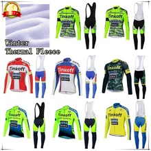 2016 Winter Thermal Fleece Pro Team Long Sleeve Tinkoff Cycling Jersey/Ropa Maillot Invierno Ciclismo Bicycle MTB Bike Clothing