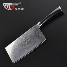 high quality damascus kitchen knife micarta handle full tang Chinese cleaver bone chopping butcher knife