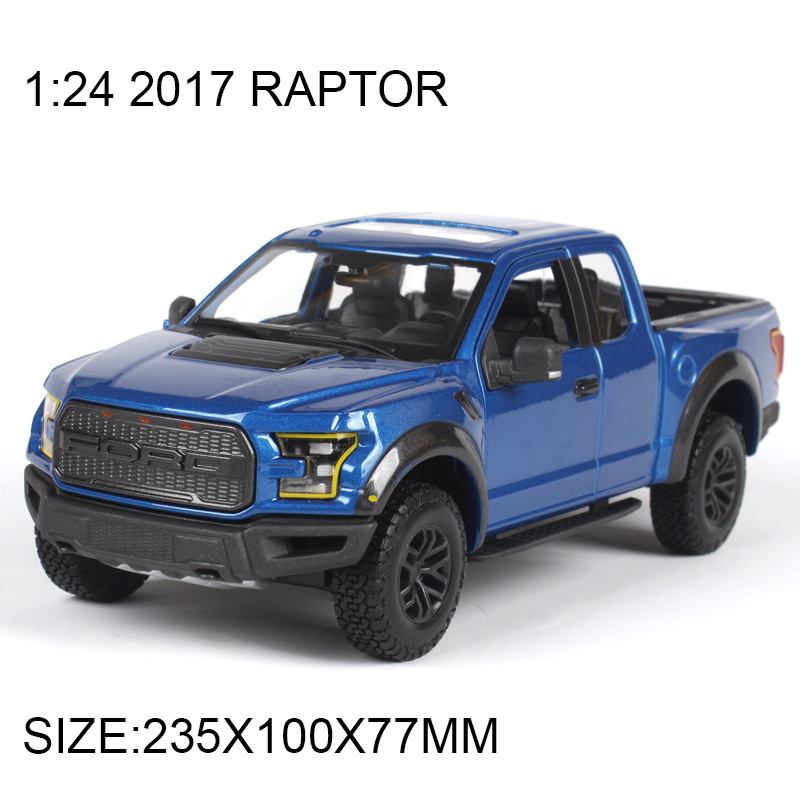 Pickup 1:24 Diecast Model Car 2017 Raptor F150 1:24 Alloy Car Model Toy Vehicle Model Cars Alloy Model Toys Gift Kid Toy promotion 6pcs bear baby crib bedding set crib sets 100