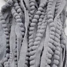 5 ярдов помпонами мяч 10 мм мини-жемчужина помпон бахрома ленты Швейные кружева Kintted ткань ручной Craft аксессуары