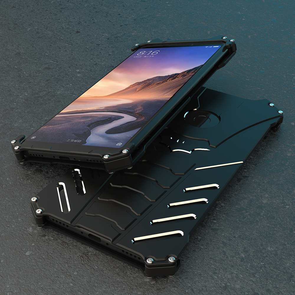 Shockproof Metal Case For Xiaomi Mi Max 2 3 Hard Cover Max3 Aircraft Aluminum Shell Outdoor Sports Straps Stand Holder in Fitted Cases from Cellphones Telecommunications