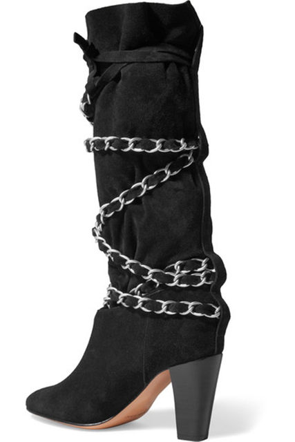 8ed1d41ad6ab Online Shop Latest beautiful Trend Mid-calf Boots Chain Decoration ...