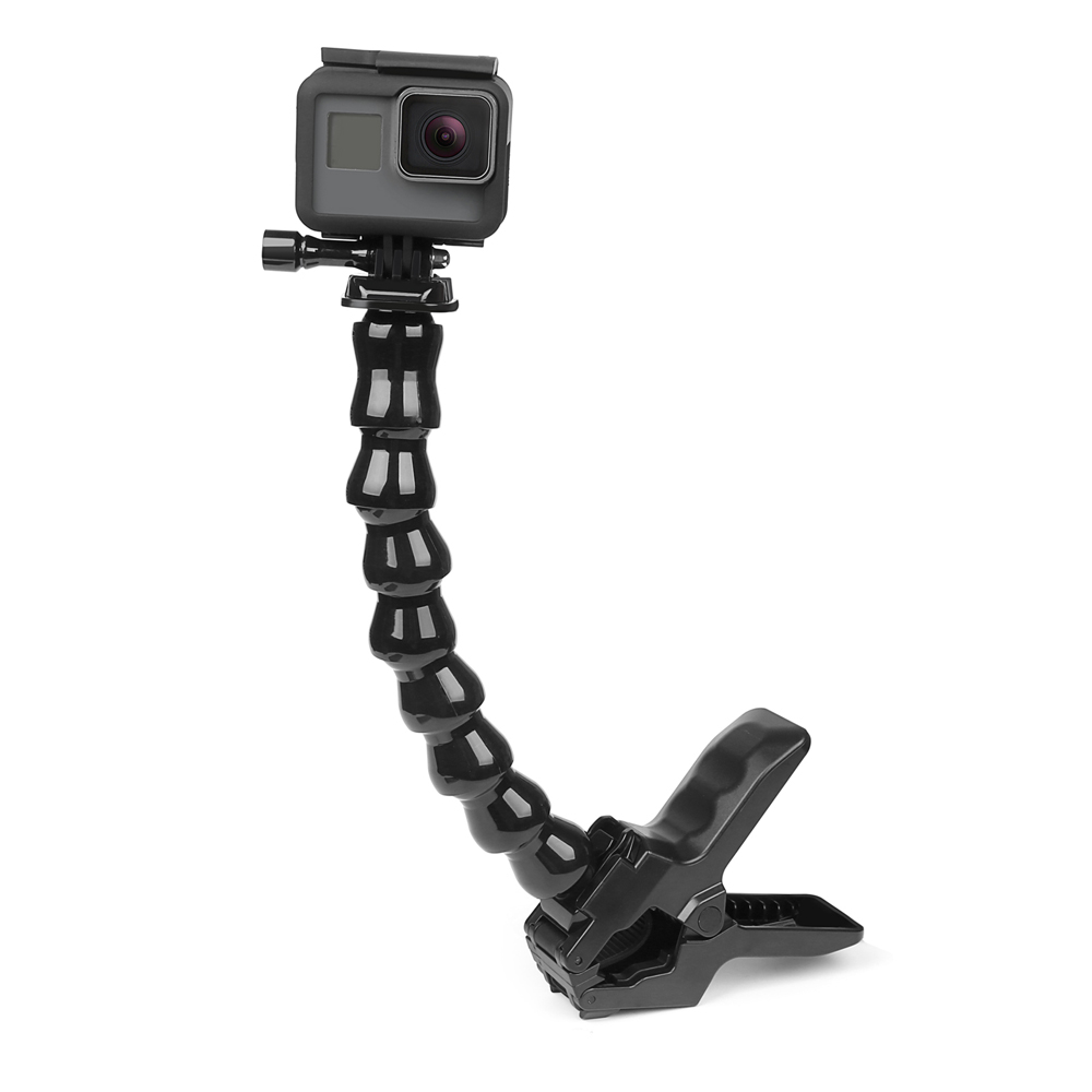 GoPro Jaws Clamp Mount Jaw and Flex Gooseneck for GoPro Hero 5 3 4 Session SJCAM SJ4000 SJ5000 wifi Xiaomi Yi 4K Tripod Holder