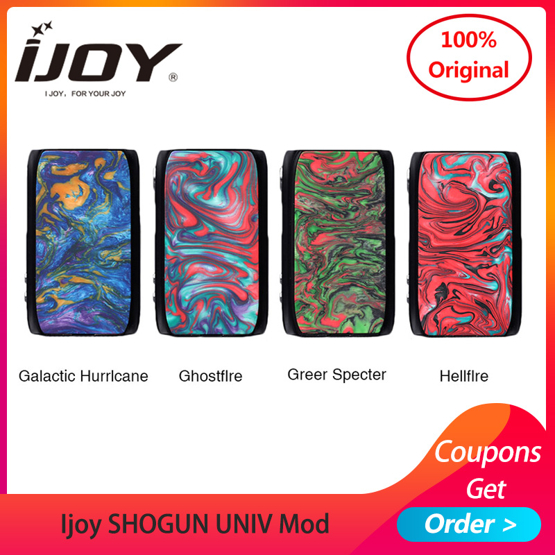 Original Ijoy SHOGUN UNIV mod 180W TCR function by dual 18650 for KATANA SUBOHM Tank vs