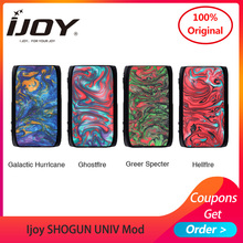 цена на Original Ijoy SHOGUN UNIV mod 180W TCR function by dual 18650 for KATANA SUBOHM Tank vs DRAG 2 E Cigarette box mod