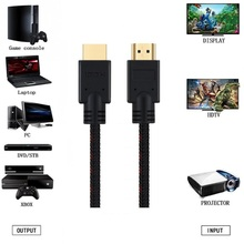 HDMI Cable 1m 2m 3m 5m High Speed 4K HDMI Cord 2.0V 60Hz, 18 Gbps, Support Ethernet 3D 2160p 1440p 1080p For DVD,TV,Home Theater