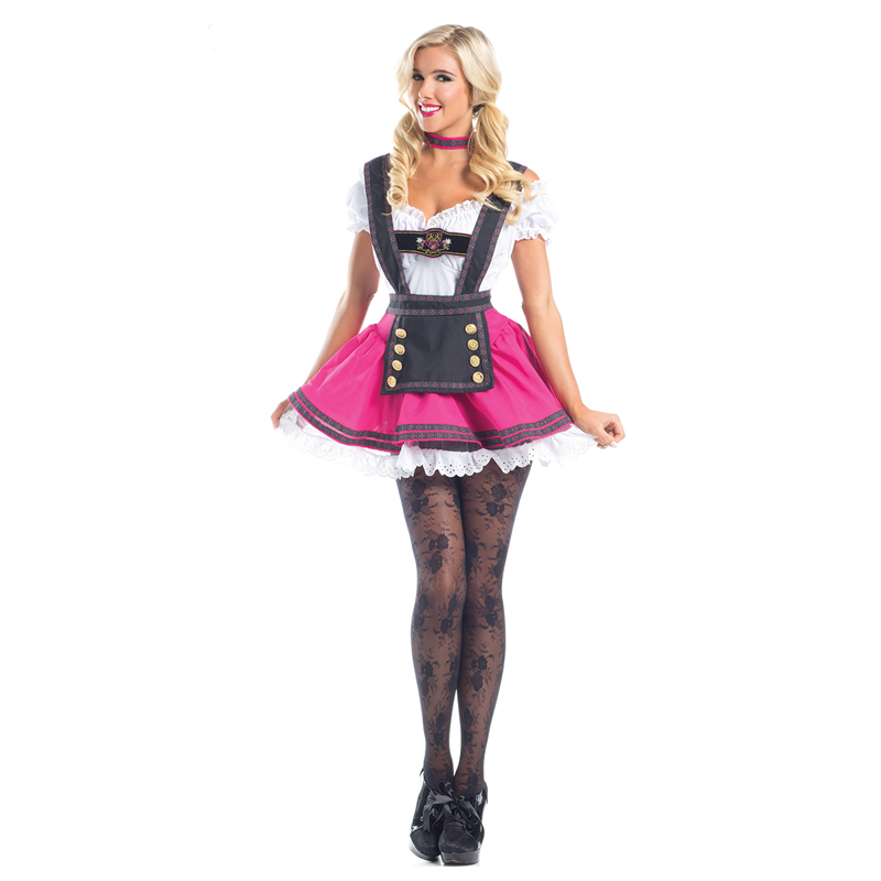 Vocole Women Swiss Beauty Beer Girl Costume Germany Oktoberfest Party Fancy Dress
