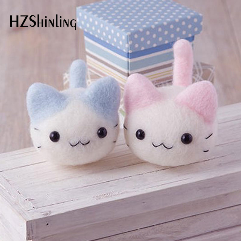 Caroon Kitty Cat Custom Doll Wool Felt Craft DIY Non Finished Poked Set Handcraft Kit For Needle Material Bag Pack
