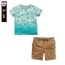 KW Brand 2-7T Summer Baby Boys Clothing Sets 2016 Casual Pattern Stars Toddler Boys Clothing Kids Clothes for Boys