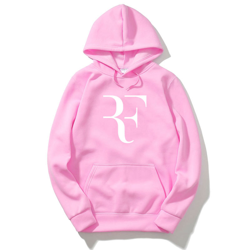 New Fashion Star Roger Federer RF Hoodies Men Long sleeve Overcoat Autumn Winter Male Tracksuit Pullovers Hip Hop Fans Clothes
