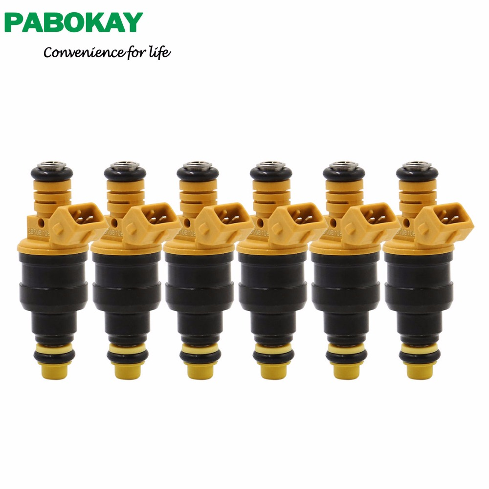 6 pieces x For <font><b>Volvo</b></font> Fuel Injector Fits <font><b>240</b></font>*740*940*960 0280150762 image