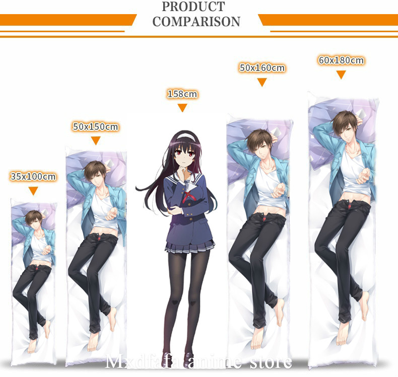 Anime Gintama  Dakimakura  Hugging Body Pillow Case Cover