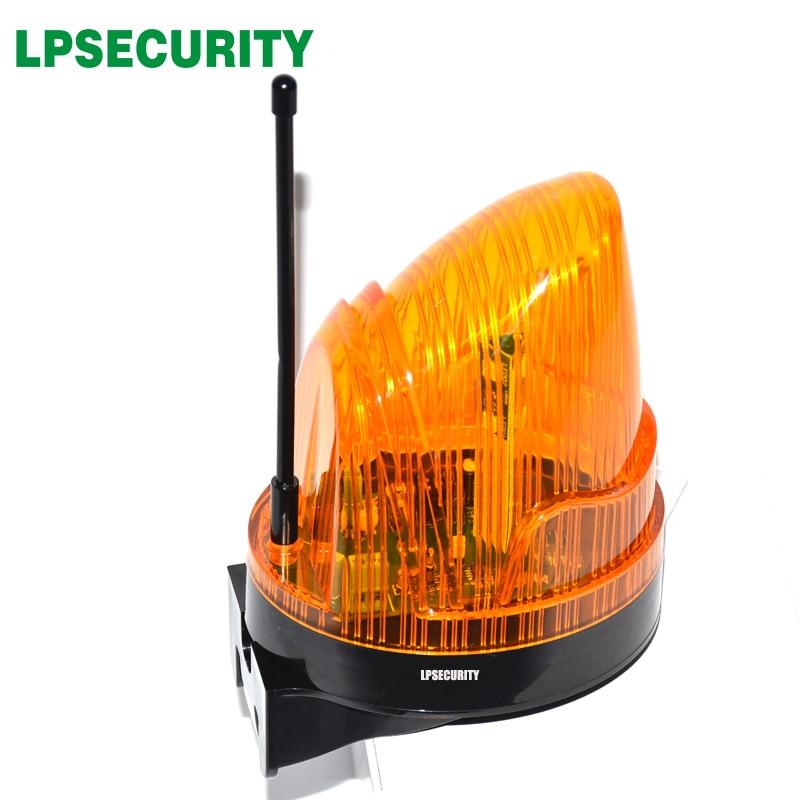 24VDC 220 v outdoor LED Signal Alarm Licht Strobe Blinkende Notfall Warnung Lampe wand halterung für Automatische Tor Öffner (kein ton)