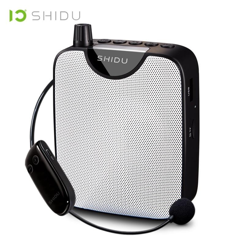 SHIDU UHF Mini Hifi AUX Audio Speaker FM Stereo Radio Wireless Portable Voice Amplifier For Teachers Speech Yoga Instructor M500 цены