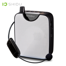 SHIDU UHF Mini Hifi AUX Audio Speaker FM Stereo Radio Wireless Portable Voice Amplifier For Teacher Speech Yoga Instructor M500