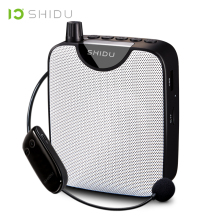 SHIDU UHF Mini Wireless Portable Voice Amplifier FM Stereo Radio HiFi AUX Audio Speaker For Teachers Speech Yoga Instructor M500 shidu ultra wireless portable uhf mini audio speaker usb lautsprecher voice amplifier for teachers tourrist yoga instructor s615