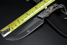 Sawback Bowie Tactical Rescue Camping Knife Fixed Blade Full Tang Hunting Survival Knife Fixed Blade Knife 1816#